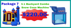 4-1 Backyard Combo Castle Dry 17x18 + Snow Cone Machine